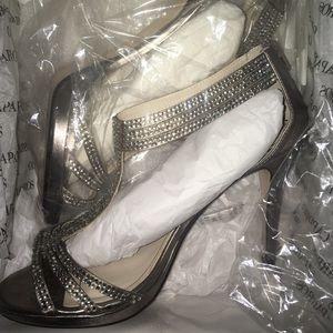 Caparros Mushroom Metallic MADDY Heels size 9 1/2